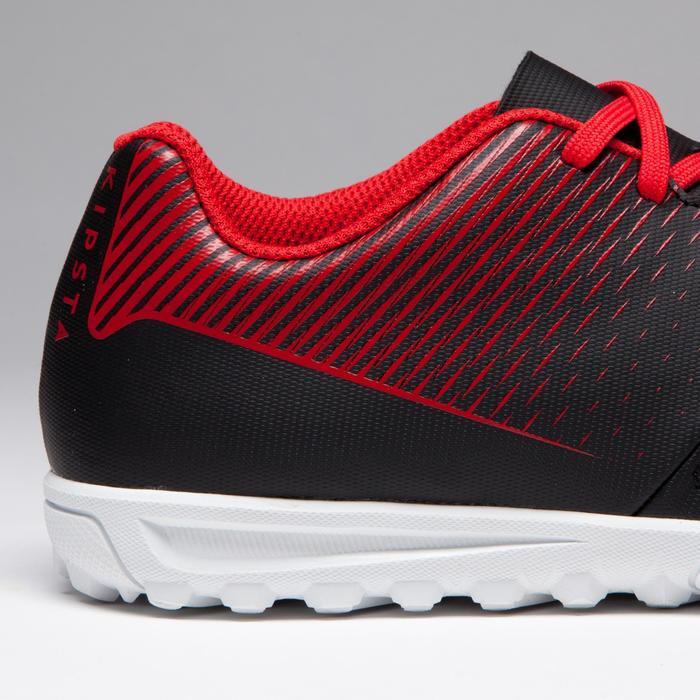 Chaussure de football enfant terrains durs Agility 100 HG Noire blanche rouge - 1266511