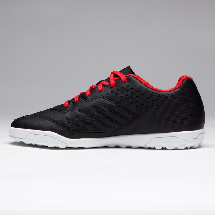 Chaussure de football enfant terrains durs Agility 100 HG Noire blanche rouge - 1266512