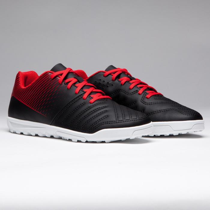 Chaussure de football enfant terrains durs Agility 100 HG Noire blanche rouge - 1266514
