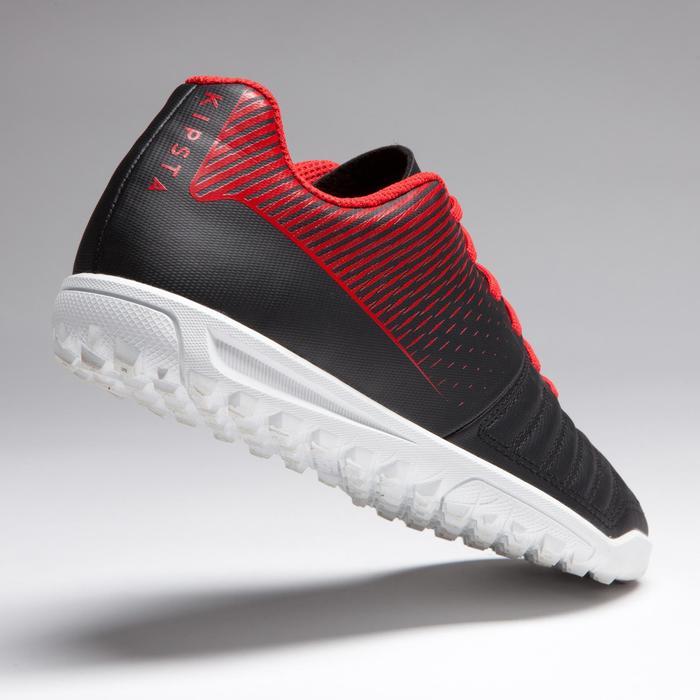 Chaussure de football enfant terrains durs Agility 100 HG Noire blanche rouge - 1266515