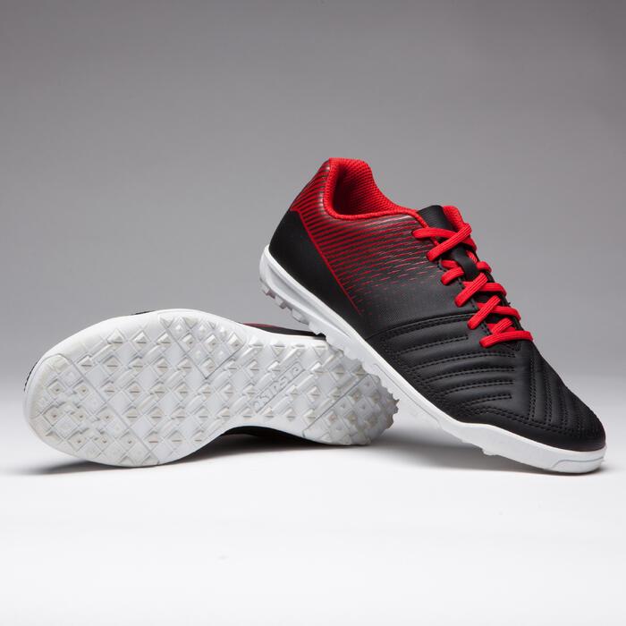 Voetbalschoenen Agility 100 HG voor hard terrein, kinderen, zwart wit rood
