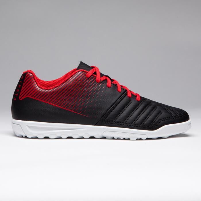 Chaussure de football enfant terrains durs Agility 100 HG Noire blanche rouge - 1266519