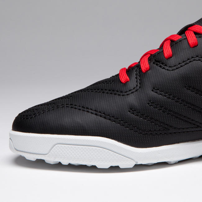 Kids' Football Boots Agility 100 HG - Black/White/Red