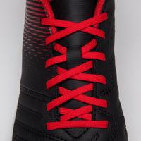 Agility 100 HG Kids' Hard Ground Soccer Shoes - Black/White/Red