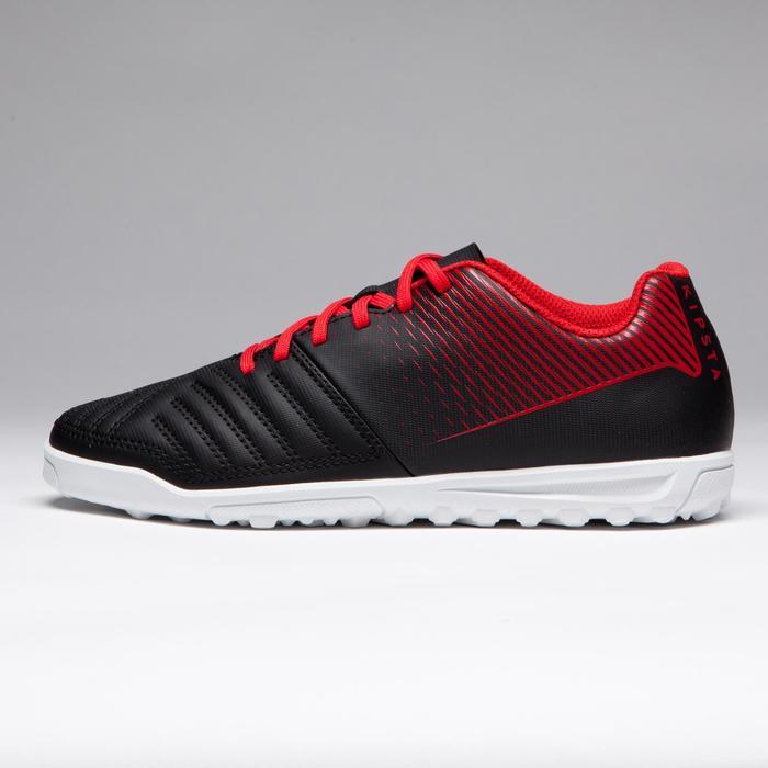 Chaussure de football enfant terrain dur Agility 100 HG noire blanche rouge