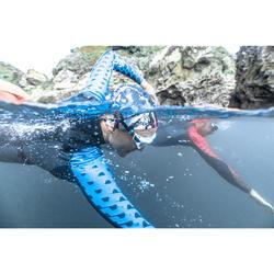 Traje Neopreno Natación Aguas Abiertas Nabaiji OWS100 1/0 mm Mujer Gris Azul
