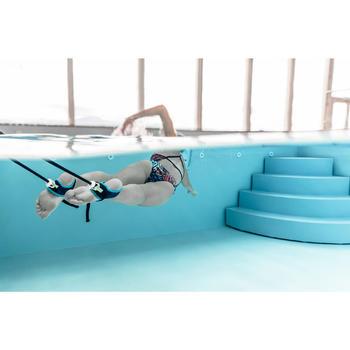 zwemelastiek 500 met enkelbandjes blauw groen