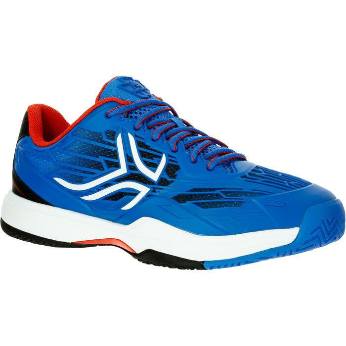 Tennisschuhe Multicourt TS990 Turnschuhe Kinder blau