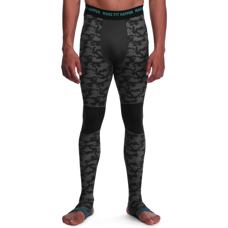 Legging MUSCLE musculation homme gris noir
