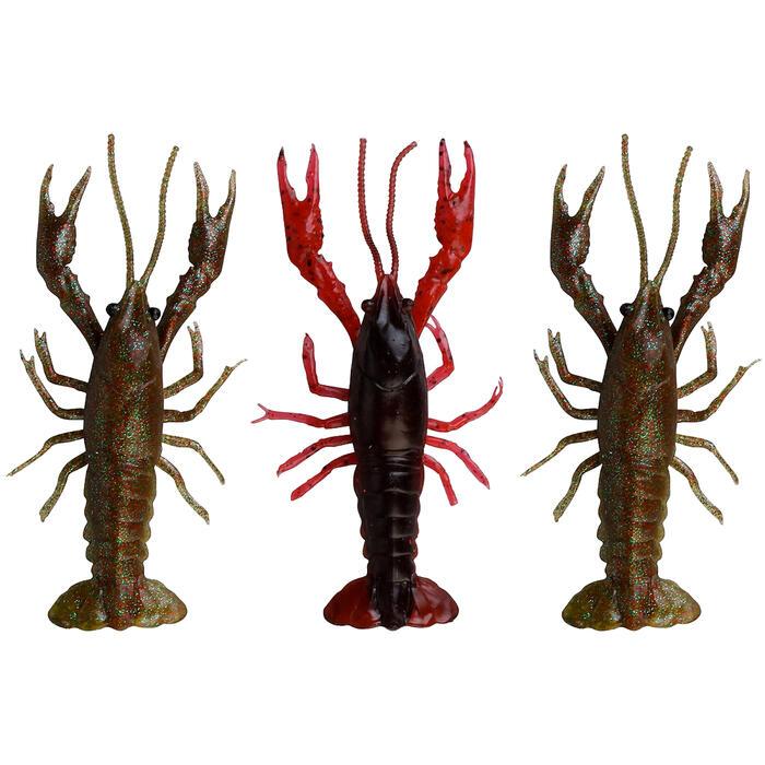 Kunstaas roofvissen 3D Crayfish set 8 cm