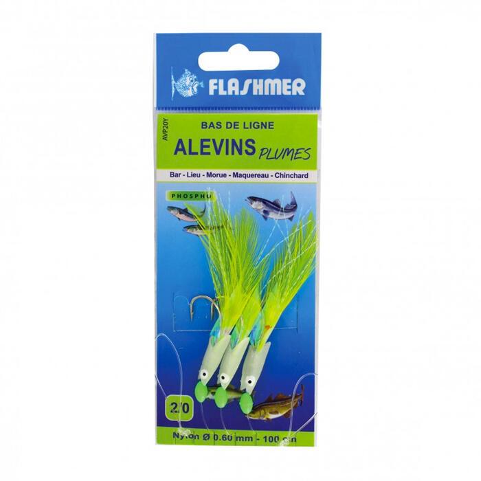 Bas de ligne Alevins phosphorescents 3 hameçons pêche en mer