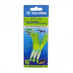 Onderlijn met fluorescerende pootvisjes (3 haken) voor vissen op zee