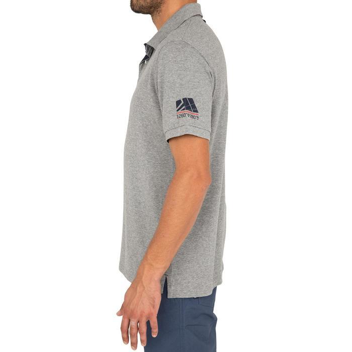 Poloshirt kurzarm Segeln Adventure 100 Uni Herren grau