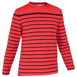 T-shirt M.L. Voile aventure 100 Homme RAYE Rouge