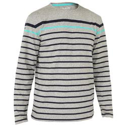 100 Men's Long Sleeve Sailing T-Shirt - Dark Blue