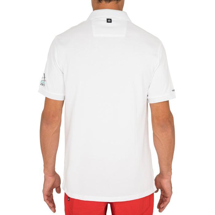 Segel-Poloshirt kurzarm Adventure 100 Herren uni weiß