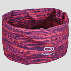 KALENJI RUNNING MULTI-PURPOSE HEADBAND MOTTLED PINK