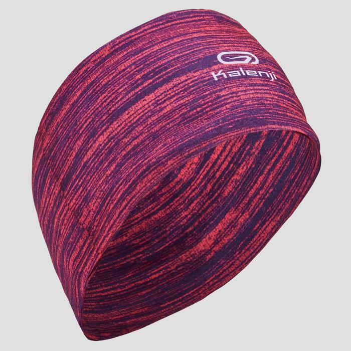 Multifunctionele hoofdband voor hardlopen gemêleerd roze Kalenji