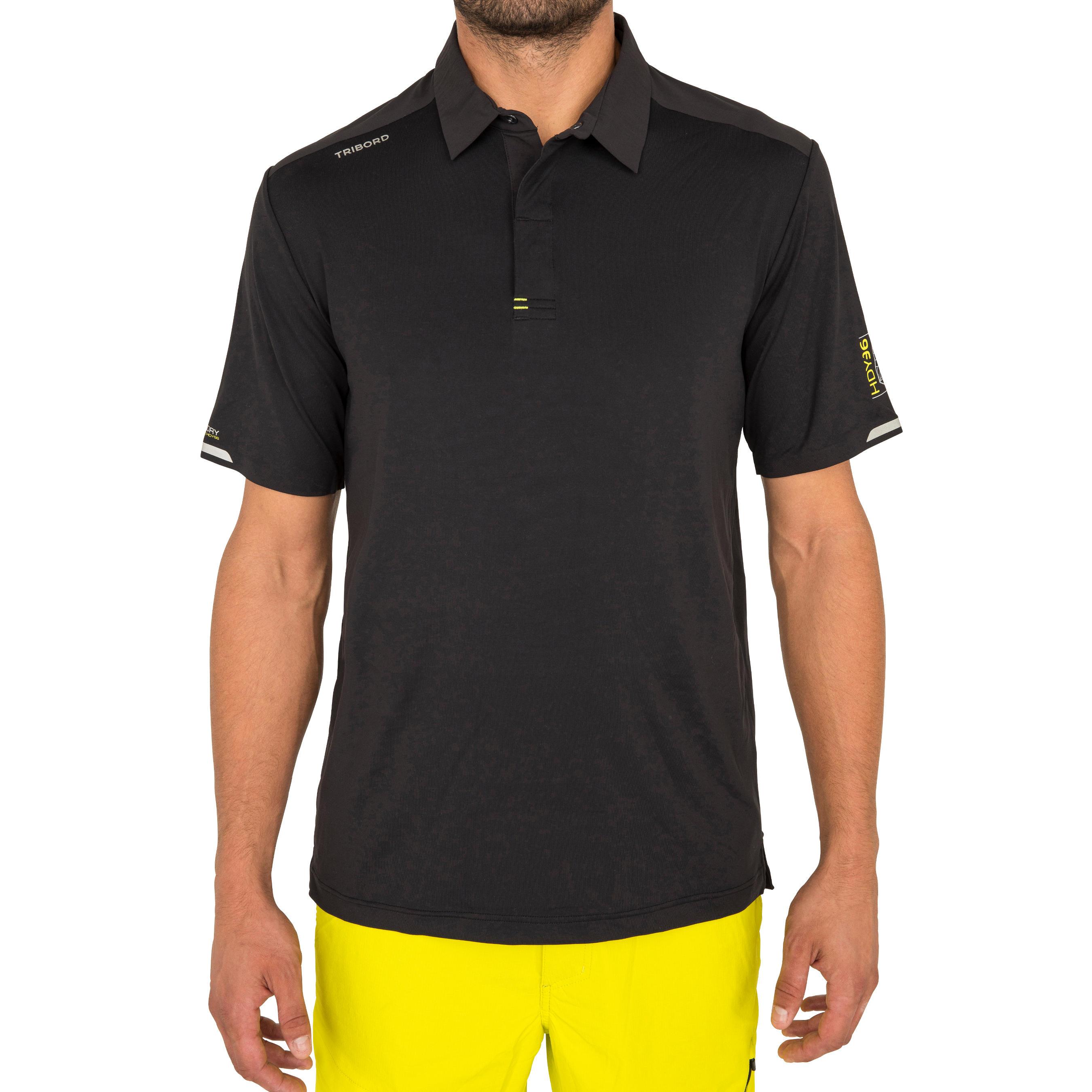 Men's short-sleeved regatta race polo shirt black