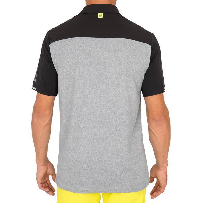 Poloshirt kurzarm Segeln Race Herren grau meliert