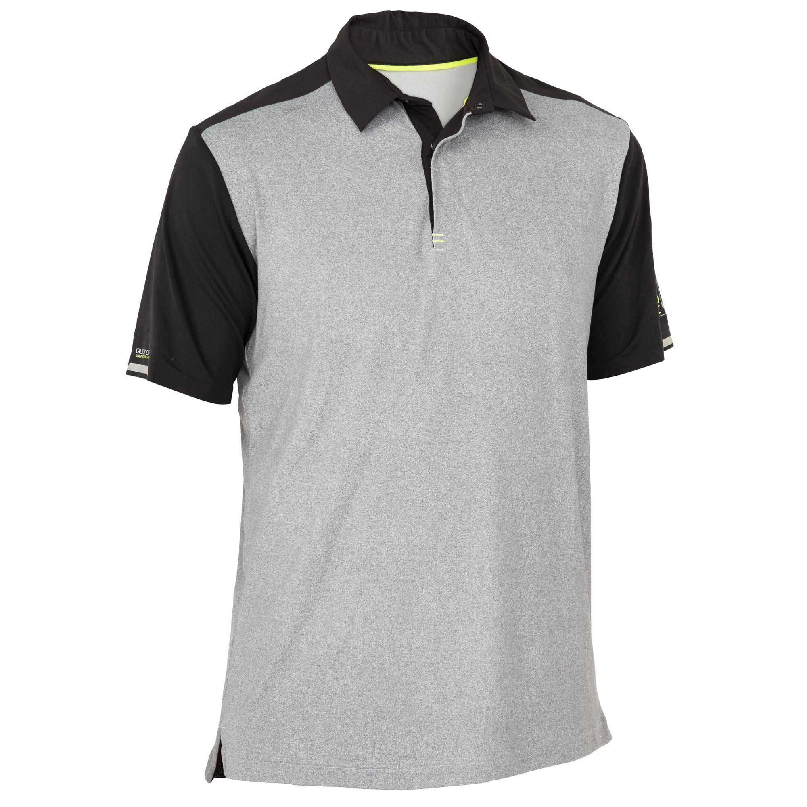 Poloshirt kurzarm Segeln Race 500 Herren graumeliert