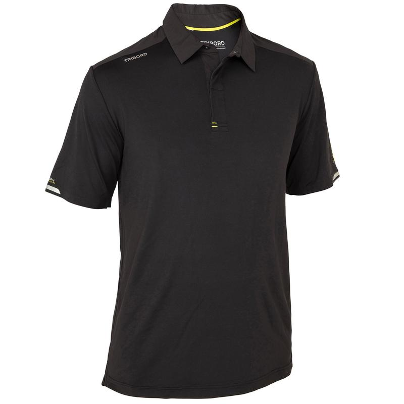 Men's Sailing Short Sleeve Polo Shirt Race 500 - Black