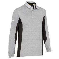 Men's Long-sleeved Race Sailing Polo Shirt White