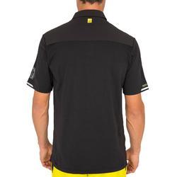 Camiseta Manga Corta Barco Vela Tribord Marinera Náutica Hombre Negro