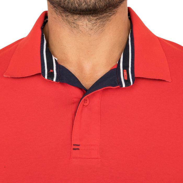 Segel-Poloshirt kurzarm Adventure 100 Herren uni rot