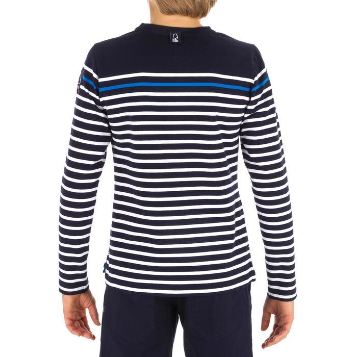 T-Shirt Manches longues - marinière voile Sailing 100 Garçon Rayé Bleu