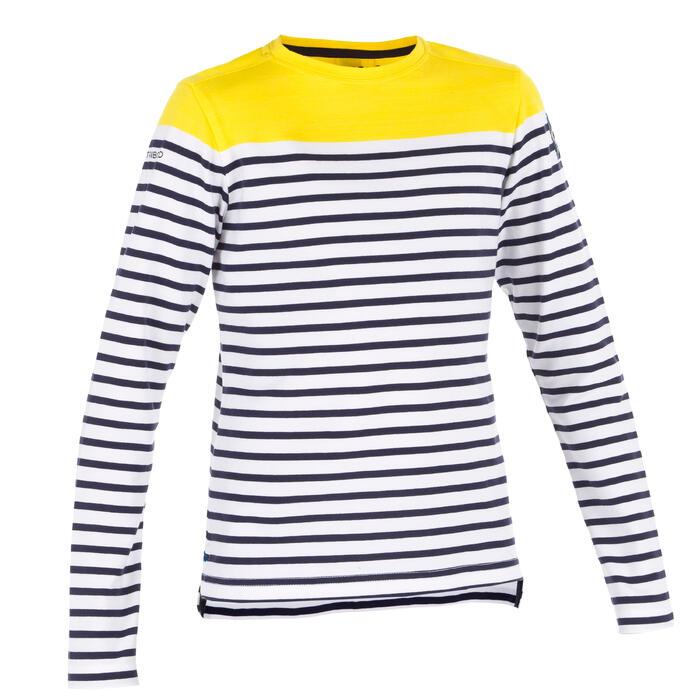 T-Shirt ML voile ADVENTURE 100 Garçon Rayé - 1267379