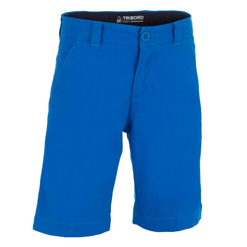 Bermuda short de voile SAILING 100 enfant garçon Bleu vif