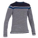 Tribord Jongensshirt LM voor zeilen Sailing 100 blauw gestreept