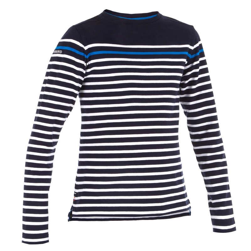 WARM WEATHER AND SHOES JUNIOR Sailing - SAILING ML T-Shirt 100 G Blue TRIBORD - Sailing Clothing
