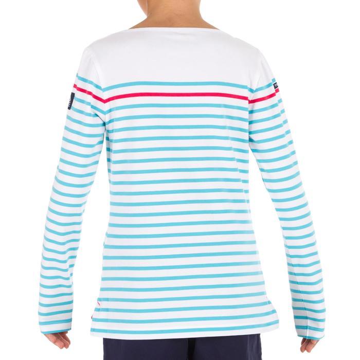 Meisjes T-shirt LM voor zeilen Adventure 100 wit