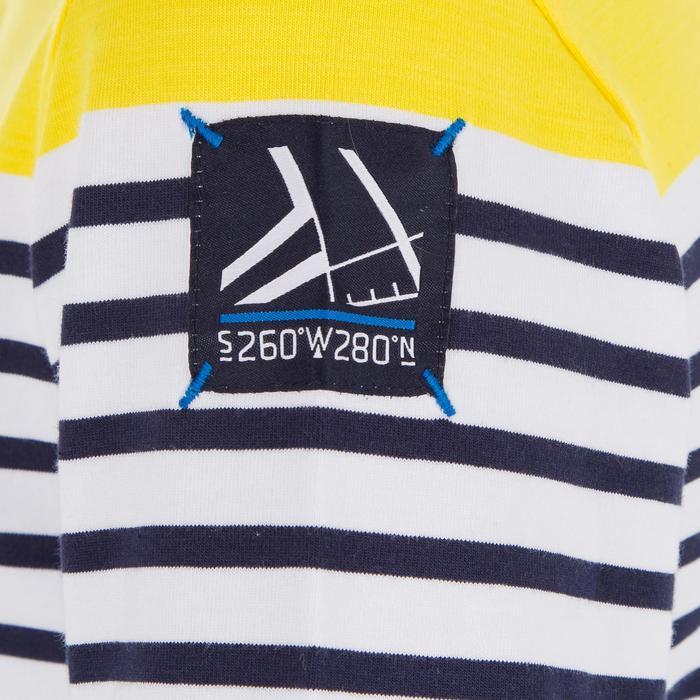 Jongens T-shirt LM voor zeilen Adventure 100 geel gestreept