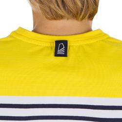 Jongensshirt LM voor zeilen Sailing 100 geel gestreept