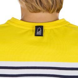 T-Shirt Manches longues voile SAILING 100 Garçon Rayé Jaune