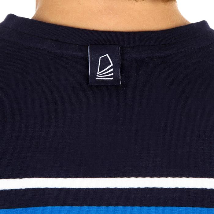 Jongens T-shirt LM voor zeilen Adventure 100 blauw gestreept