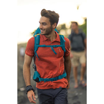 Polohemd Kurzarm Travel 100 Herren rot