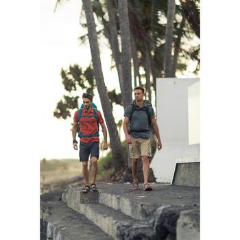 Wandersandalen Naturwandern NH110 Herren grau/rot