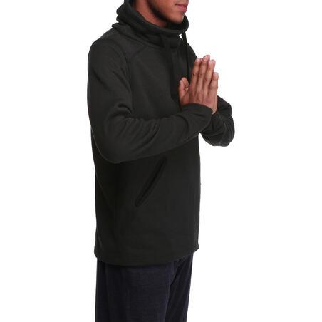 Sweat de relaxation col roulé, gym douce yoga pilates, homme noir