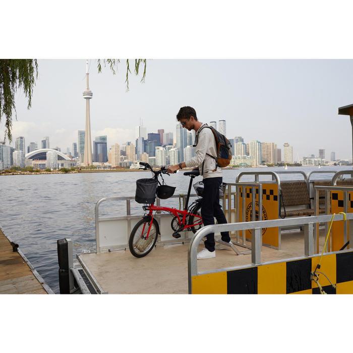 Fahrradkorb Klapprad komprimierbar 10l grau