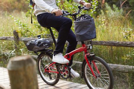 Elastīgs saliekamā velosipēda grozs, 10 l