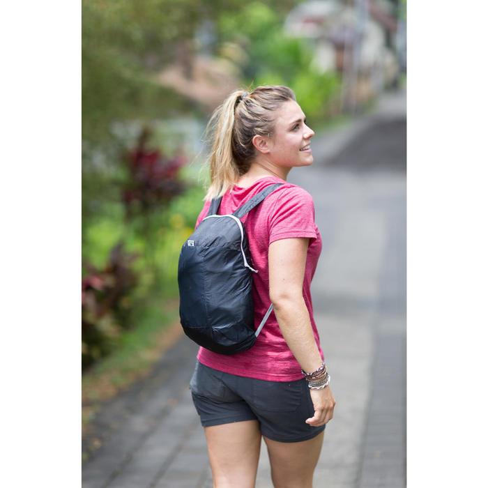 Merinoshirt Kurzarm Travel 500 Damen rosa