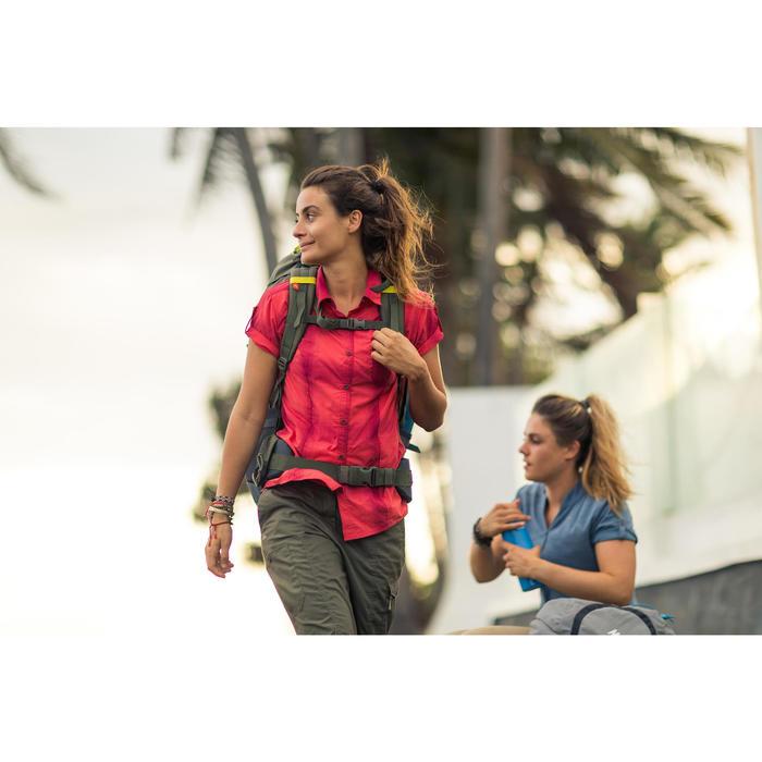 Damesblouse met korte mouwen Travel 100 kaki