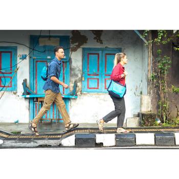 Trekking overhemd met lange mouwen Travel 500 omvormbaar heren blauw