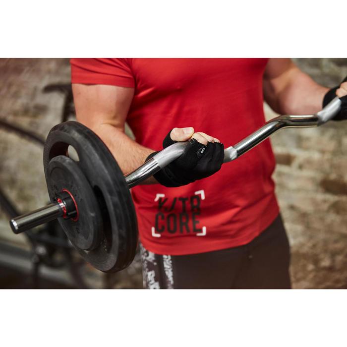 Gant musculation poignée noir gris serrage double velcro - 1268058
