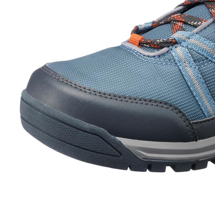 Chaussures de randonnée nature NH150 mid imperméable bleu gris homme