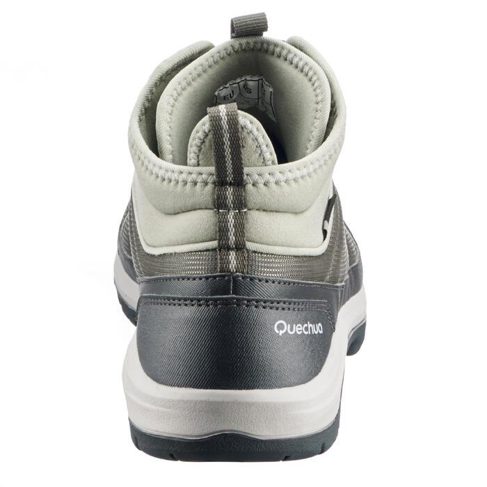 Schoenen voor wandelen in de natuur NH150 mid Protect kaki dames